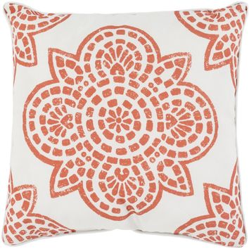 Hemma Throw Pillow Orange, Neutral