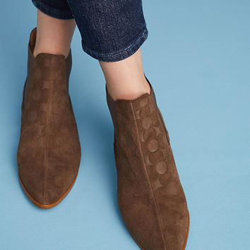 Anthropologie Floral Embossed Chelsea Boots