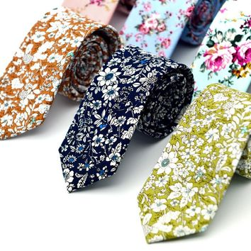 Wedding Floral Neck Ties Men Suit Skinny Mens Neck Ties Gravatas Slim Corbatas Vestidos Neck Tie Mens Cravat Necktie Male F3