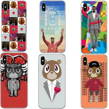 Fashion Kanye West Graduation Teddy Bear Hard PC Phone Case Cover Shell For iPhone 5 5S SE 6 6sPlus 7 XR XS MAX 8 8 Plus X 10