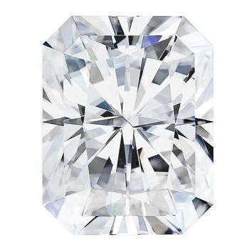 Certified Radiant Forever One Charles & Colvard Loose Moissanite Stone - 2.70 Carats - D Color - VVS1 Clarity