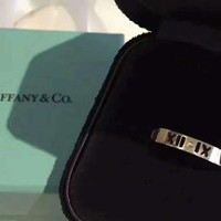 Tiffany new 925 sterling silver plated Roman numerals hollow ring