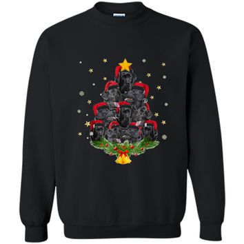 Black Lab Christmas Tree Xmas Gift For Dog Lovers Printed Crewneck Pullover Sweatshirt