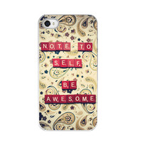 iPhone Case  Scrabble Tiles Be Awesome by paperangelsphotos