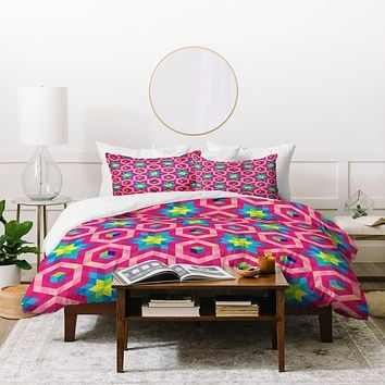 Raven Jumpo Facets Duvet Cover