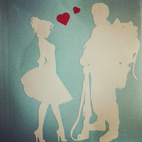 Military Couple Car Decal