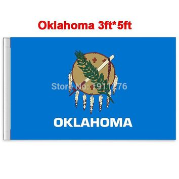 New fashion 90*150 cm Oklahoma flag United State American Banner Office/Activity/parade/Festival/Home Decoration