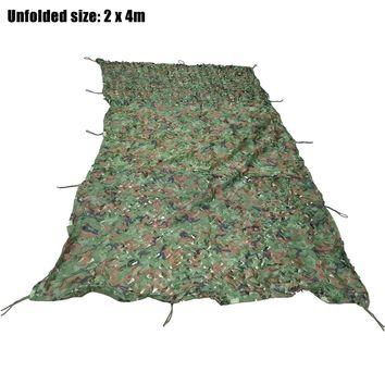 2M x 4M Camouflage Net Woodland Military Army Hunting Camping Tent Car Cover Netting For Hunting, Paintball Games Sunshade