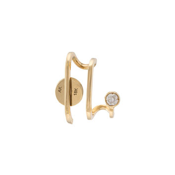 Ana Khouri Unit Diamond Amelie Earring - Gold Single Earring