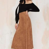 Trailblazer Vegan Suede Maxi Skirt