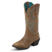 Sheplers: Justin Puma Cowhide Stampede Cowgirl Boots - Square Toe
