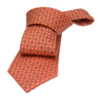 Ashby Rings Silk Tie, Coral / Red / Yellow