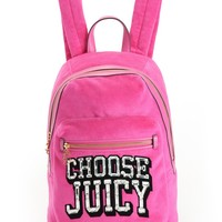 Choose Juicy Velour Backpack by Juicy Couture