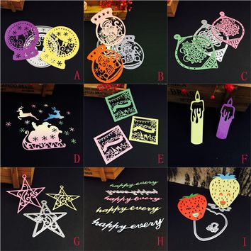New Metal Cutting Dies Stencils DIY Scrapbooking Album Paper Card Decorative Craft Embossing Folder Festival Party Decoration