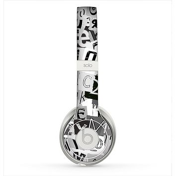 The Newspaper Letter Collage Skin for the Beats by Dre Solo 2 Headphones