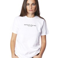 The Married To The Mob Title Tee in White