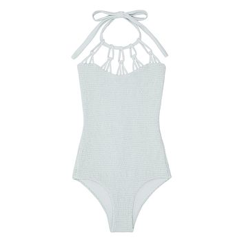 Magnolia High Neck Cut Out One Piece Swimsuit - Sage Green