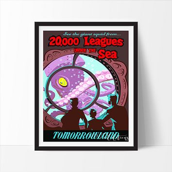 20,000 Leagues Under The Sea, Disneyland Poster