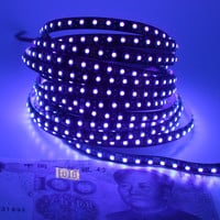 12V Ultraviolet UV LED Blacklight Waterproof non IP65 Night Fishing 395nm 120leds m 60leds m 3528 SMD black PCB LED Strip Light