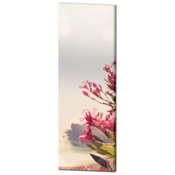 Pink Flower Canvas - Pink Flower Photo - Home Decor - Floral Wall Art - Tall Canvas - Green and Hazy - Large Canvas - 20 x 60 Canvas