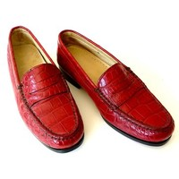 Crocodile Penny Loafers Hand Stitched 1 pair only made, by IMPERIO jp - IMPERIO jp on Taigan