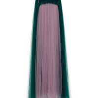 Sleeveless Gown with Tulle Cape | Moda Operandi