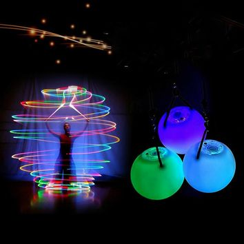 drop 1 pieces belly dance balls RGB glow LED POI thrown balls for belly dance hand props stage performance accessories