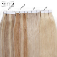 "Neitsi 5A 20"" 50g 100g Remy Tape Skin Weft Ombre Human Hair Straight Extensions 100% Indian Remy Hair 14 Colors Indian Tape Hair"