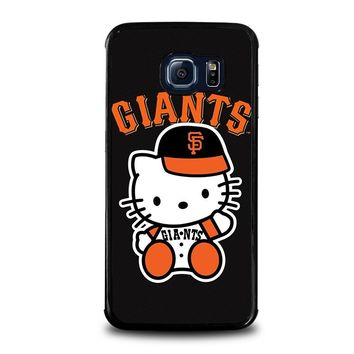 HELLO KITTY SAN FRANCISCO GIANTS Samsung Galaxy S6 Edge Case Cover