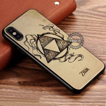 Legend of Zelda Triforce Lightning iPhone X 8 7 Plus 6s Cases Samsung Galaxy S8 Plus S7 edge NOTE 8 Covers #iphoneX #SamsungS8