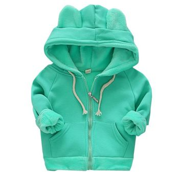 Girls Boys Long Sleeve Hoodie Warm Winter Fashion Casual Coat Childrens Kids Jacket Drop Shipping #Z30