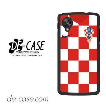 Croatia Soccer Jersey For Google Nexus 5 Case Phone Case Gift Present YO