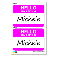 Michele Hello My Name Is - Sheet of 2 Stickers