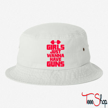 Girls Just Wanna Have Guns 5 bucket hat