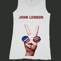 THE BEATLES john lennon shirt singlet screen print tank top ety234v