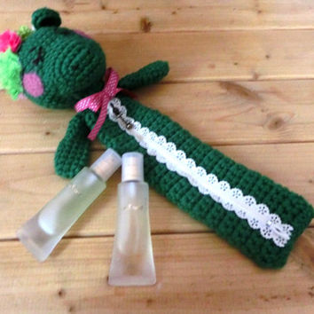 Kawaii Green Dragon Amigurumi Pencil Case /Green Crochet Pouch /School Supply /Girls Accessories / For Her/ Gift Idea/ Ready for Ship