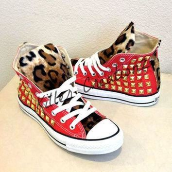 DCCKHD9 Custom studded Converse Chuck Taylors with faux by KillerCreationz