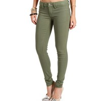 Olive Stretch Skinny Pants