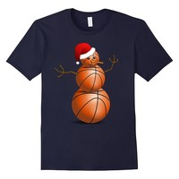 Christmas Basketball Shirt - Basketball Snowman T-Shirt