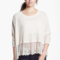 Painted Threads Lace Hem Top (Juniors) | Nordstrom