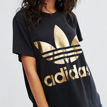 adidas Originals Trefoil T-Shirt - Gold Logo