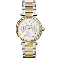Michael Kors Mini Parker Two Tone Chronograph Watch