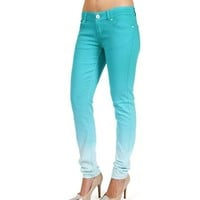 SALE-Turquoise Ombre Skinny Pants
