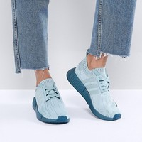 adidas Originals NMD R1 Trainers In Green With Metallic Sole at asos.com
