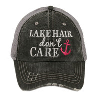 Lake Hair Don't Care Trucker hats, baseball hats