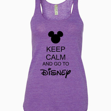 Keep Calm and Go To Disney Racerback Tank