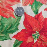 Fabric, Springs Creative, Christmas Pointsettia, by the yard cut, craft supply