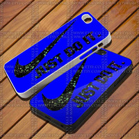 Blue Nike Just do it on Galaxy Design for iPhone Case,Samsung Galaxy S3/S4 Case,iPhone 4 Case,iPhone 4S Case and iPhone 5 Case