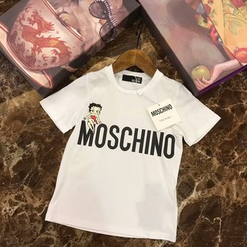 2018 Childrens Cheap  Moschino  T Shirt hot sale ※015