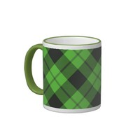 Green Check Tartan Coffee Mug